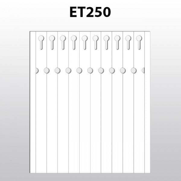 Schlaufenetiketten für Laserdrucker aus Polyester ET250