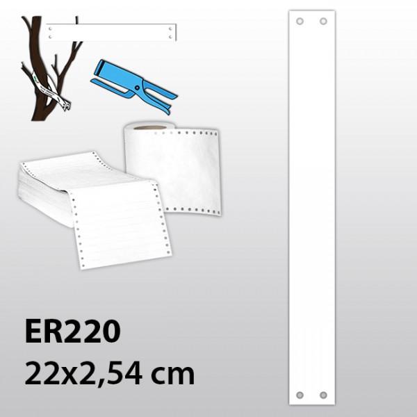 Streifen-Etiketten aus Tyvek ER220