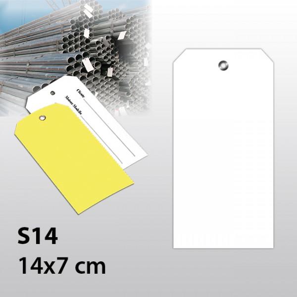 S14-Warenanhänger aus Kunststoff 14x7 cm