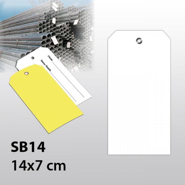 SB14-Hängeetiketten aus Kunststoff 14x7 cm